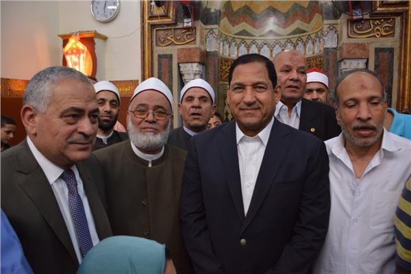 محافظ الغربية يفتتح مسجد العارف بالله سيدى مرزوق