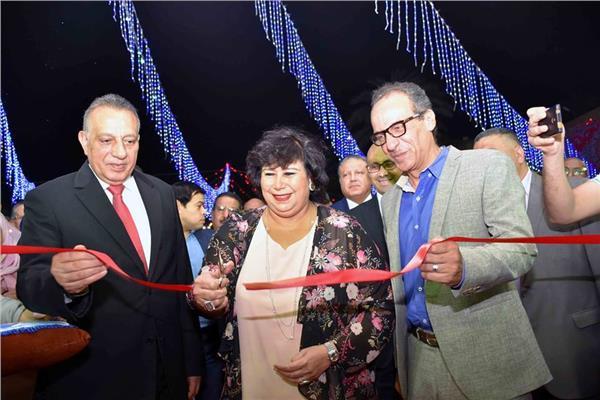وزيرة الثقافة ورئيس هيئة الكتاب يفتتحان معرض فيصل للكتاب