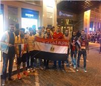 توافد المصريين على مقر إقامة محمد صلاح بكييف
