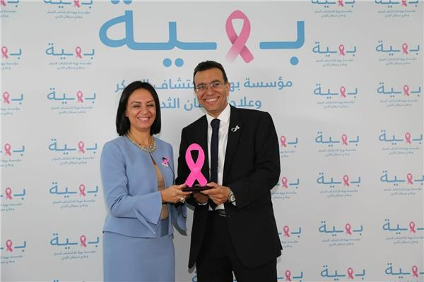 مايا مرسي تزور مستشفى «بهية» لعلاج سرطان الثدي