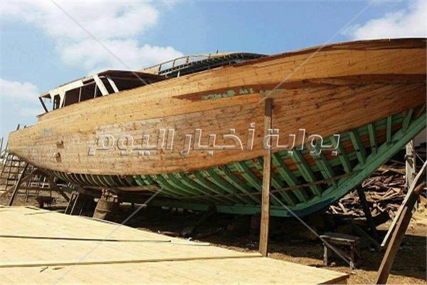 إحدى السفن تحت الإنشاء
