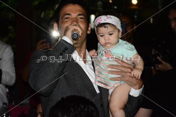 سعد الصغير خلال الحفل