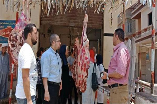 ضبط 300 كيلو لحوم منتهية الصلاحية في حملة بالخانكة