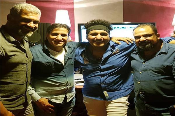 محمد رحيم أثناء تسجيل أغنية الفيلم