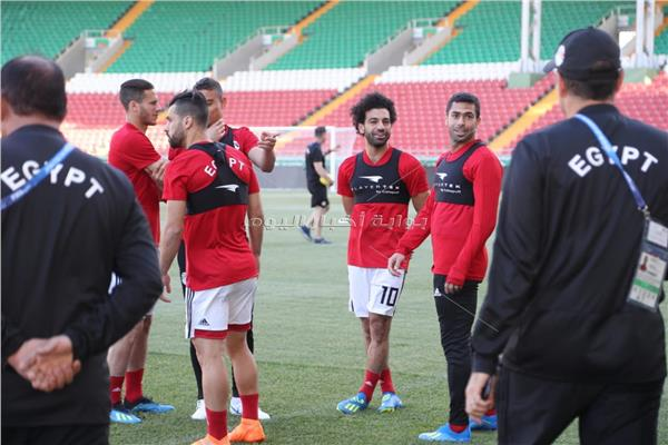 مران المنتخب الوطني على ملعب ستاد أحمد أرينا بمدينة جروزني