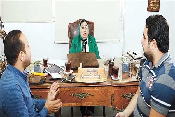 سهير شومان خلال حوارها مع الأخبار