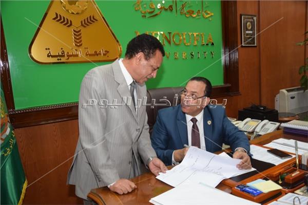 رئيس جامعة المنوفية يعتمد نتيجة الفرقة الثالثة بكلية التربية الرياضية
