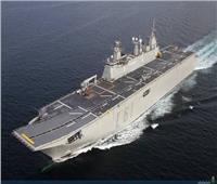 حاملة الطائرات الإسبانية ترسو بميناء الإسكندرية