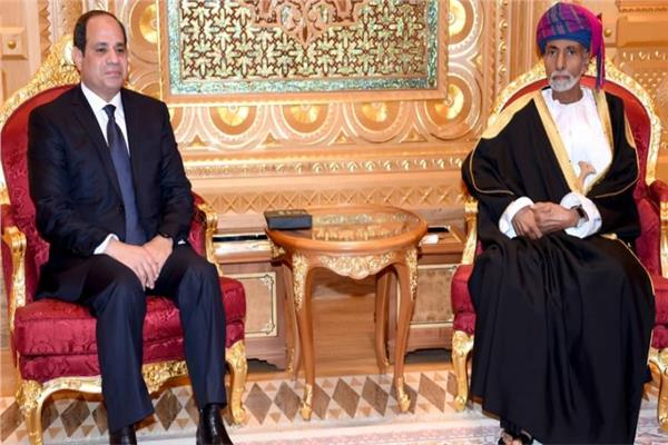 السلطان قابوس يتلقى برقية شكر من الرئيس السيسي
