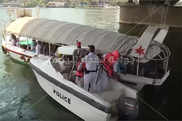بالفيديو.. «شرطة المسطحات» تطئمن على سلامة المراكب النيلية