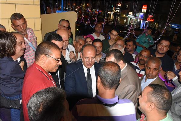 محافظ الإسكندرية يفتتح أعمال التطوير بميدان إسكندر إبراهيم
