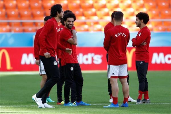 صورة من رويترز لتدريبات المنتخب المصري