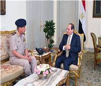 السيسي يستقبل وزير الدفاع الفريق محمد زكي
