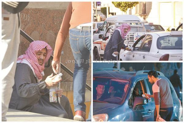 محرر الأخبار يتسول في شوارع وسط القاهرة