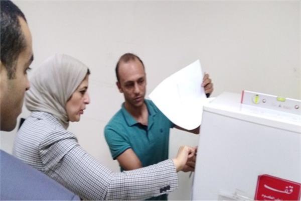 لقطة من زيارة الوزيرة لصحة الدويقة