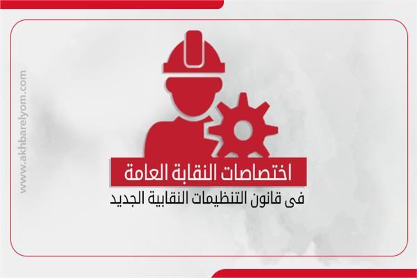 إنفوجراف  اختصاصات النقابة العامة في قانون «التنظيمات النقابية»
