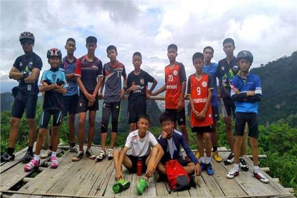 صورة للأطفال الـ12 العالقين بكهف تايلاند