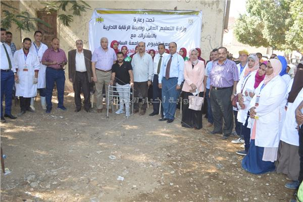 لفعاليات القافلة البيطرية المشتركة بين جامعة الفيوم وجامعة مدينة السادات