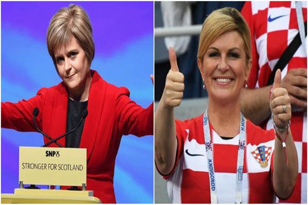 رئيسة كرواتيا ورئيسة وزراء اسكتلندا