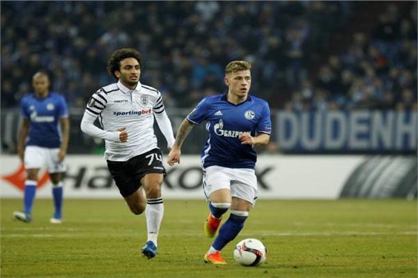 عمرو وردة مع باوك أمام شالكه الألماني
