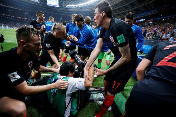 فرحة لاعبي كرواتيا