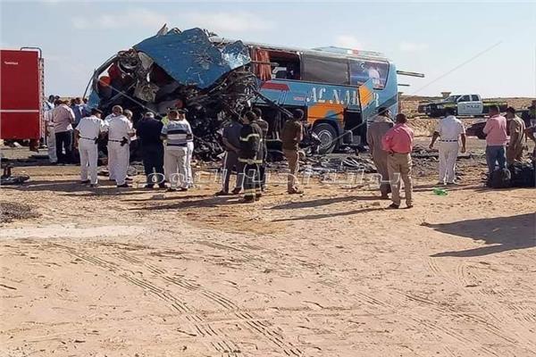 مصرع 8 وإصابة 27 شخصا في حادث تصادم بطريق «مطروح- الإسكندرية»