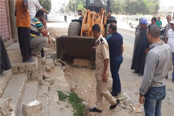 محافظ المنيا يفتتح  اعمال تطوير المدخل الشمالى للمدينة