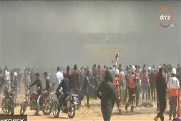 فلسطينيون يحيون ذكرى مرور 100 يوم على مسيرات العودة