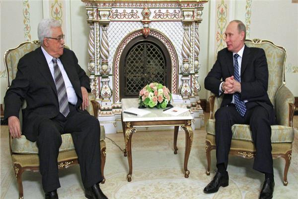 فلاديمير بوتين ومحمود عباس