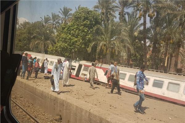صورة من حادث قطار البدرشين