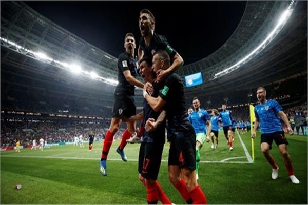 فرحة كرواتية بهدف الفوز على إنجلترا