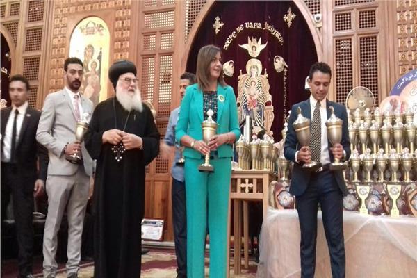 وزيرة الهجرة تشارك في مهرجان الكرازة المرقسية