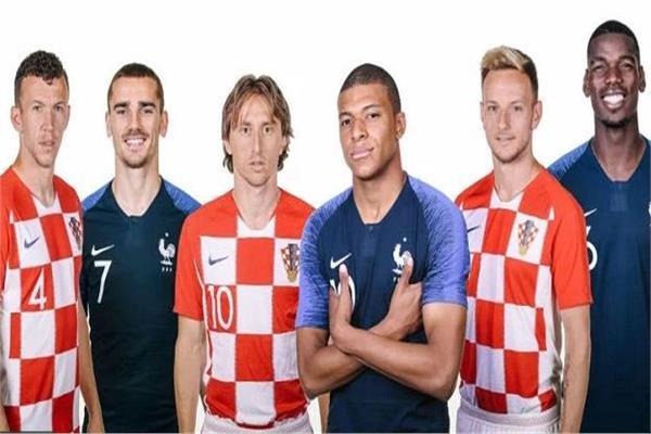 نجوم منتخبي فرنسا وكرواتيا