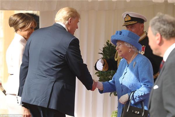 ملكة بريطانيا وترامب