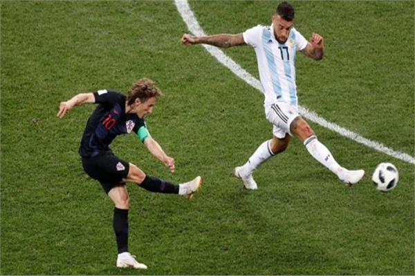 هدف لوكا مودرتيش في مرمى الأرجنتين