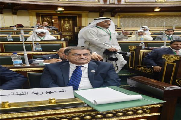 مشيل موسى عضو البرلمان و رئيس الوفد اللبناني