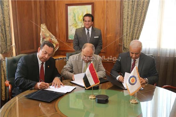 -- إتفاقية تعاون علمى وأكاديمى بين جامعة المنوفية والجامعة المصرية للتعلم الإلكترونى