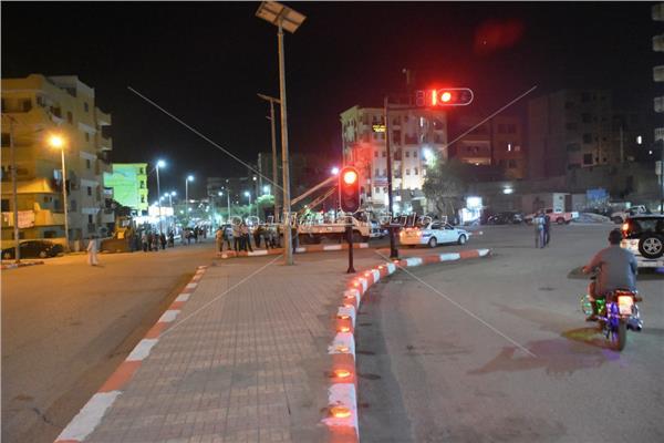 محافظ أسوان يتفقد أعمال التطوير بميدان الجيش