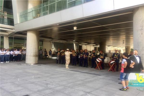 عزف السلام الجمهوري في احتفالية يوم في حب الإسكندرية