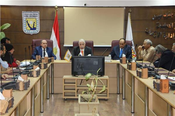محافظ جنوب سيناء أثناء لقاءه رئيس مجلس إدارة شركة القناة لتوزيع الكهرباء
