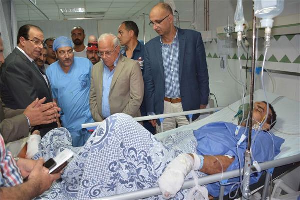 تشييع جثامين ضحايا حادث بورسعيد.. ومحافظ الدقهلية يطمئن على المصابين