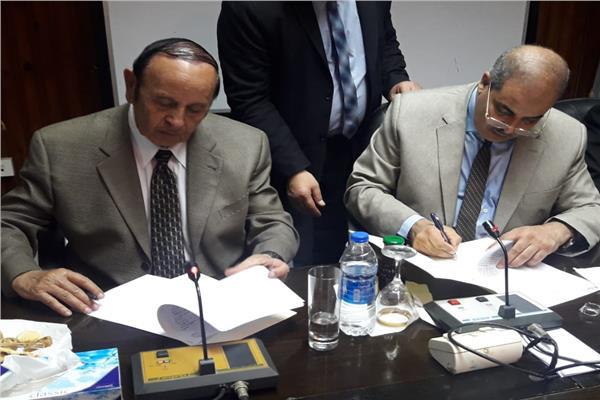 خلال توقيع البروتوكول