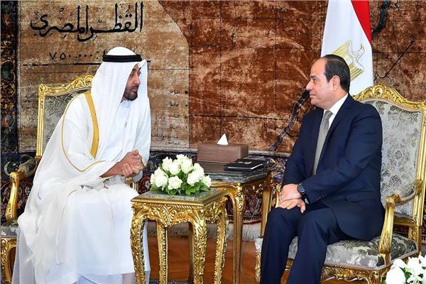 الرئيس السيسي وولي عهد أبوظبي