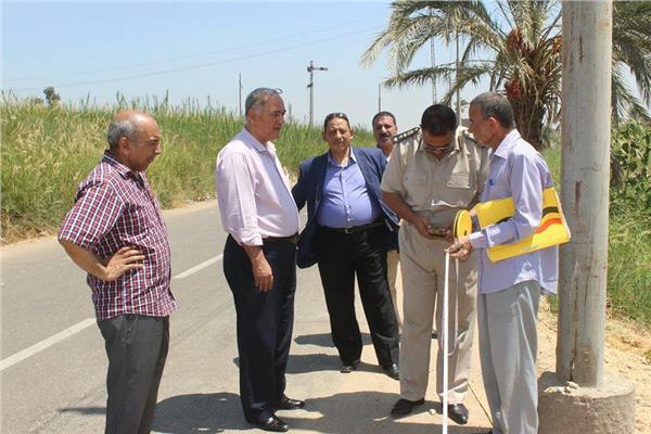 تخصيص قطعة أرض لإقامة وحدة مرور بمركز مطاي في المنيا