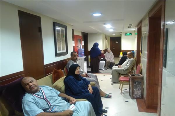 إحدى عيادات البعثة الطبية المصرية