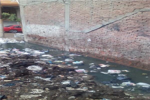 مياه الصرف الصحي تهدد حياة 32مواطن في المنصورة