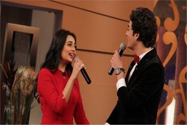 هبة مجدي وزوجها المطربمحمد محسن