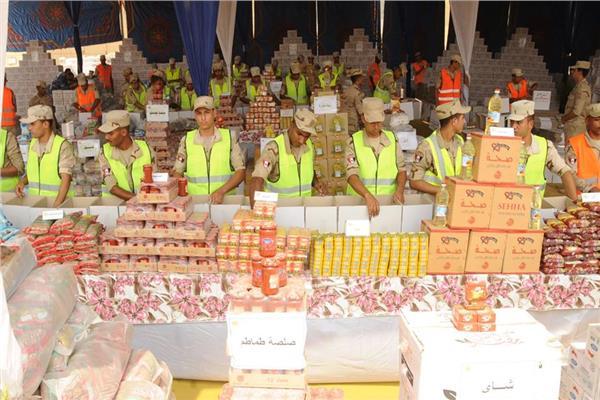 القوات المسلحة توزع مليون حصة غذائية قبل العيد