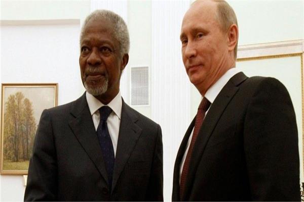 فلاديمير بوتين وكوفي عنان
