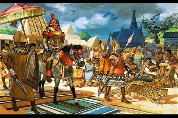 صورة تخيلية لموكب مانسا موسى  الرجل الأغنى في التاريخ